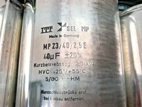 ITT Sel mp 40mF capacitors, 8 available in good conditio